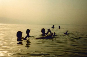 Floating in the Dead Sea in the 1980's!